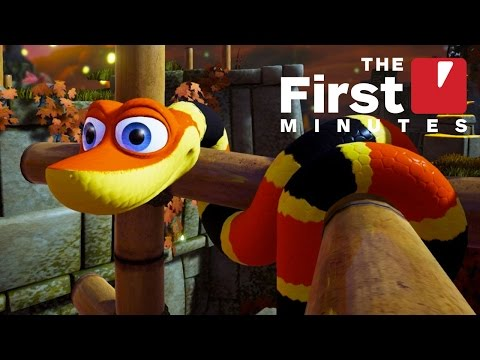 The First 15 Minutes Of Snake Pass Gameplay
