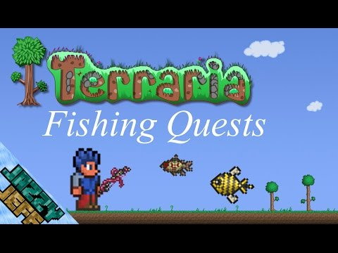 Let's Play Terraria - Fishing Quests (Ep 29)
