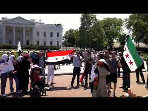 Free Syria Protest outside Whitehouse 30 April 2011
