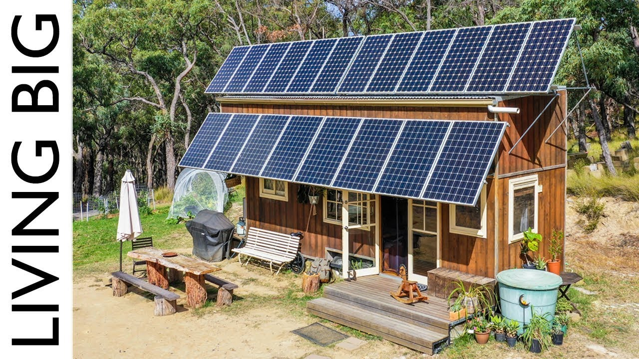 10 000 Off The Grid Tiny House With Huge Solar System