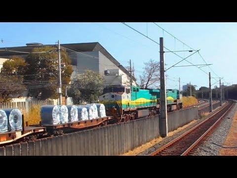 Trens de carga da VALE - VLI - MRS  em Belo Horizonte
