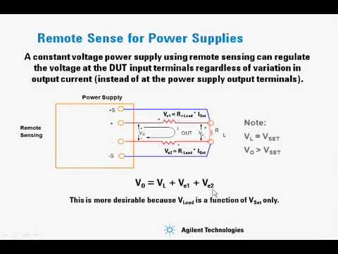 DC Power Supplies Remote sense vs Local versus