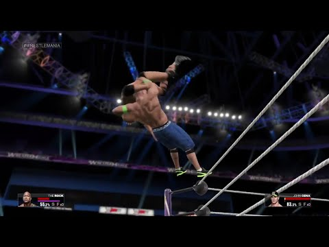 WWE 2K15- John Cena  vs The Rock NO DQ Match  Wrestlemania  2015 (PS4) HD