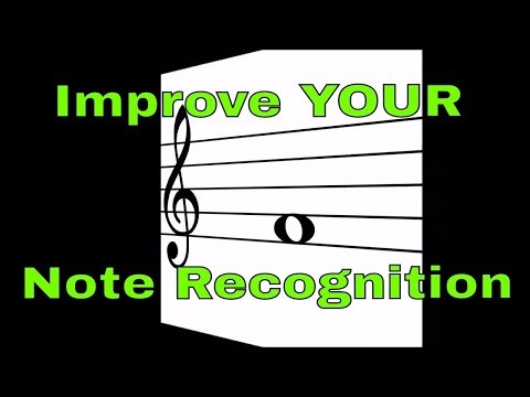 Note recognition flashcards