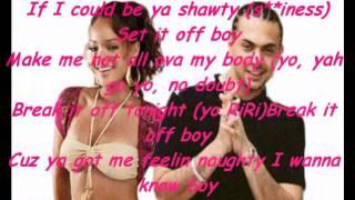 Sean paul ft Rihanna   Break it off   lyrics