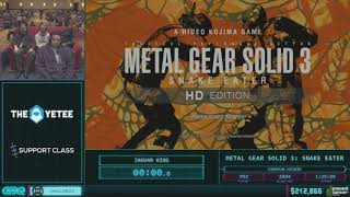 Metal Gear Solid 3: Snake Eater by Jaguar King in 1:29:29 - AGDQ 2018 - Part 34