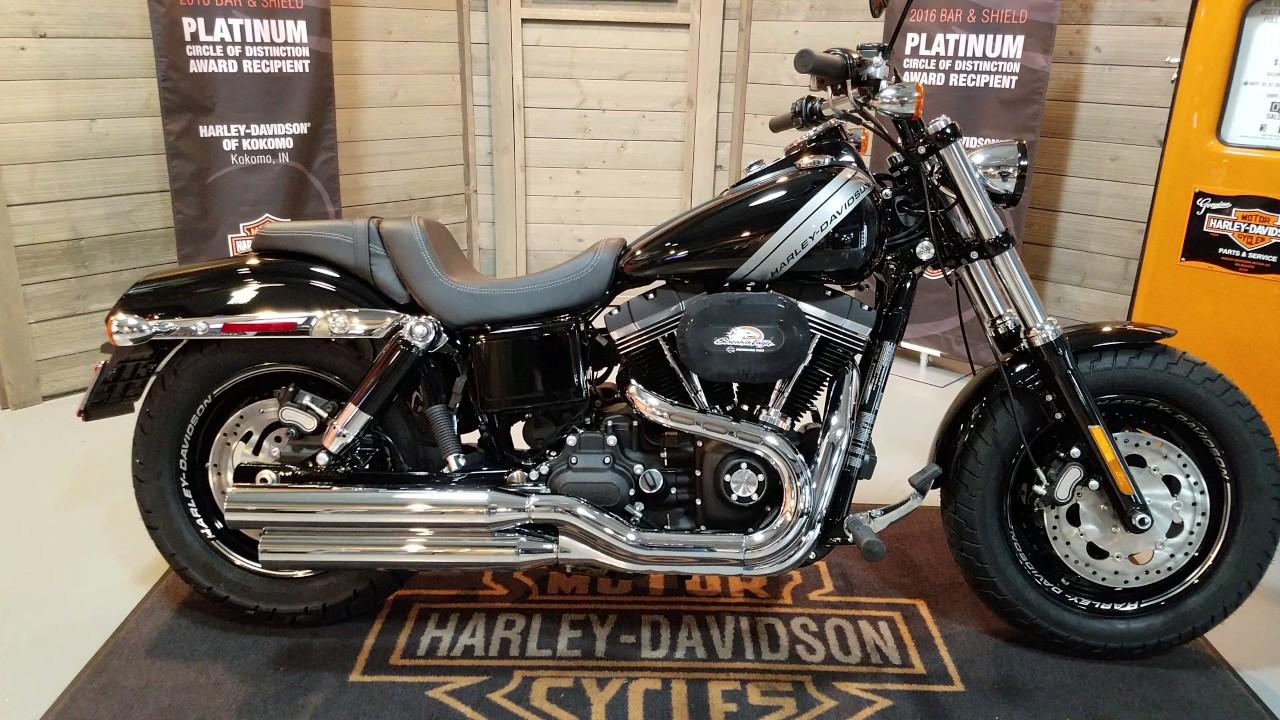 2017 Dyna Fat Bob Fxdf In Black Harley Davidson Of Kokomo