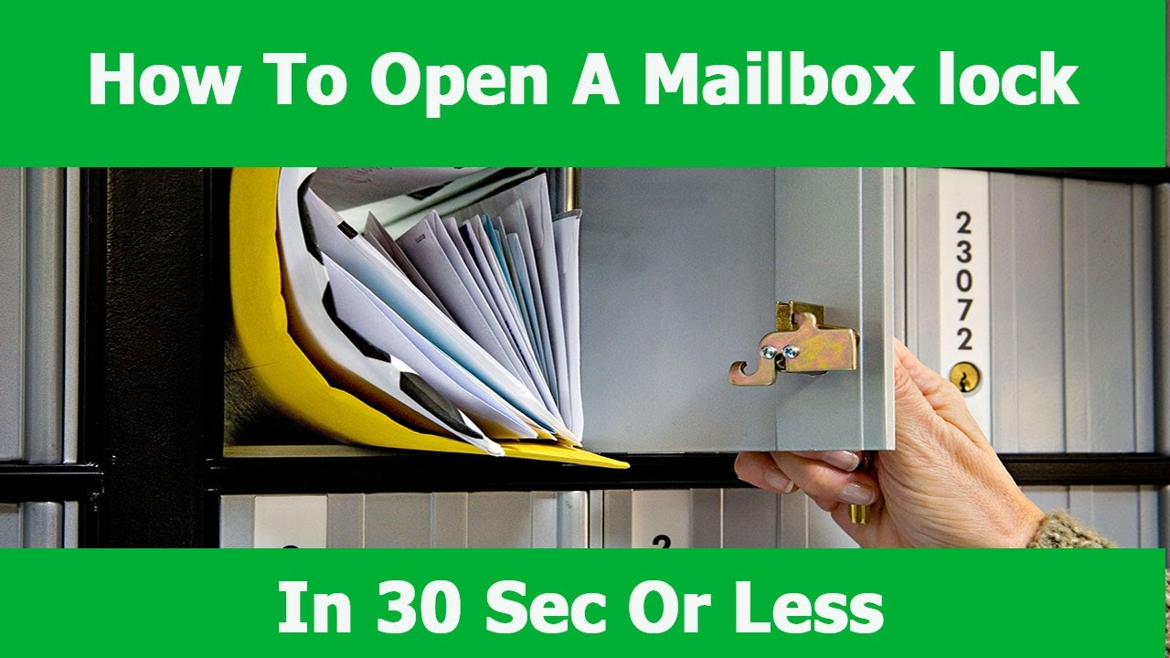 How To Open A Mailbox Lock Replace A Mail Box Lock Youtube