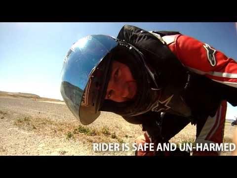 Reno Fernley Raceway Crash - Safermoto Vest