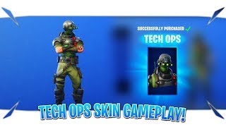 "Fortnite Tech Ops Skin Gameplay ""January 24 Item Shop Live"" (Fortnite Item Shop Today)"