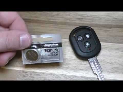 Pontiac G3 Chevy Aveo Key Fob Battery Replacement Easy Diy