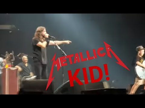 Sarge - Kid Shreds Metallica On Stage with Foo Fighters