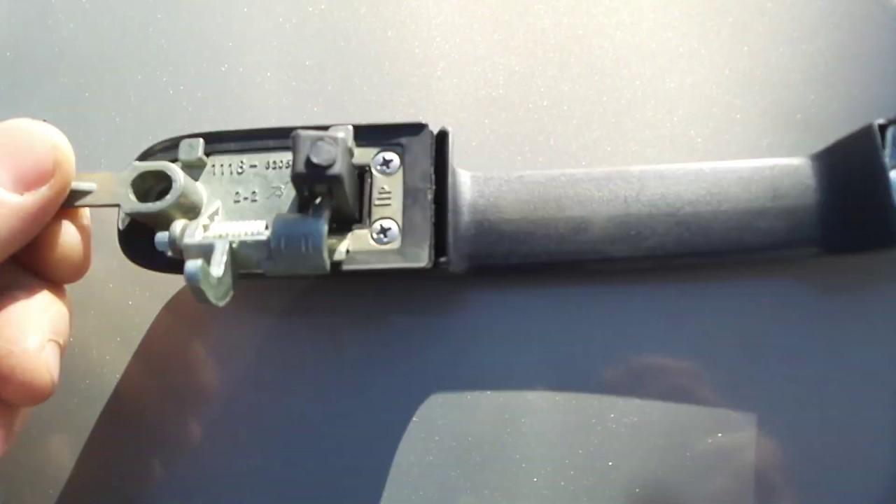 Ремонт (замена) дверной ручки Lada Kalina 1