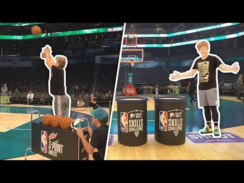 Playing in the OFFICIAL NBA ALL STAR Skills Challenge + 3PT Contest 2019