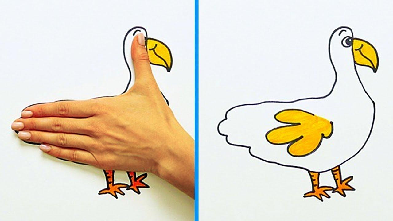 Dessin Avec La Main 30 astuces de dessin que tu voudras tester sur le champs