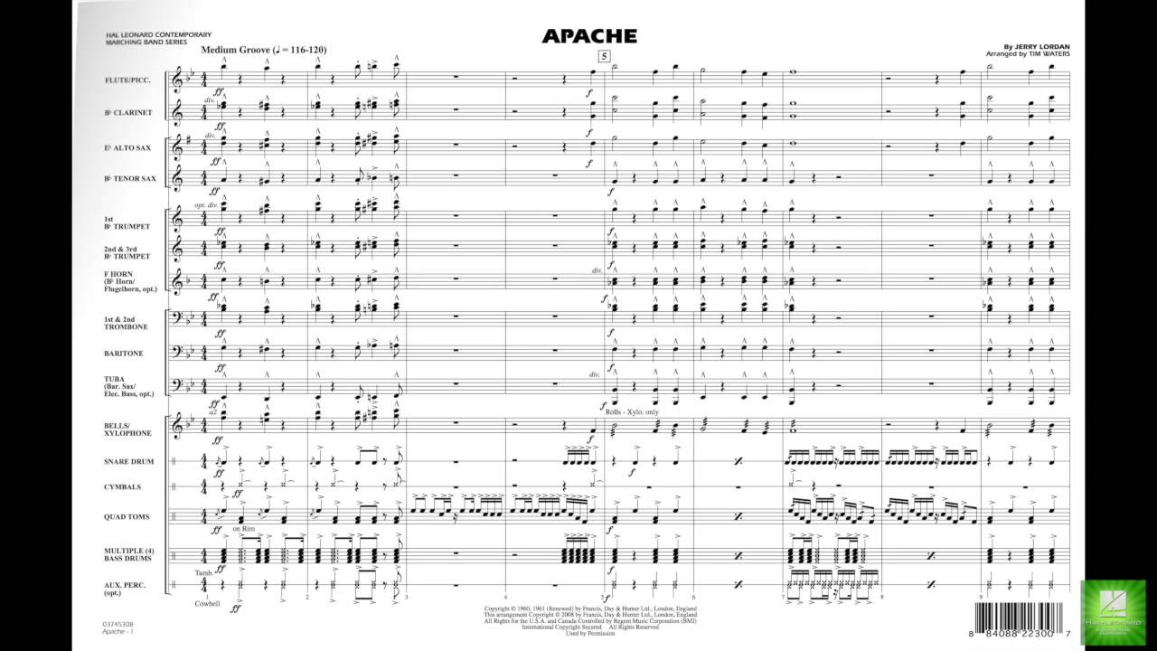 Apache by Jerry Lordan/arr  Tim Waters