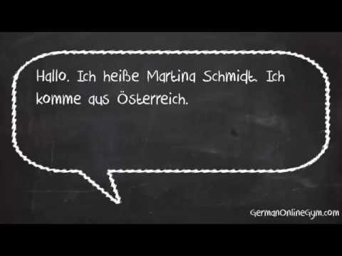 Learn German Online: How to introduce yourself