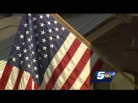 Tattered flag flies at Vermont post office