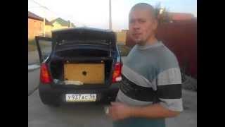 Как звучит самодельный сабвуфер в машине без усилителя!