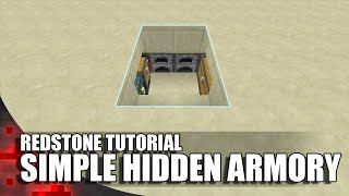 Minecraft: Simple Hidden Armory!