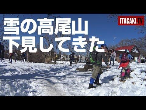 雪の高尾山。登れるか下見してきた(稲荷山コース)