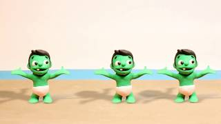 Superhero Dance Play Doh Stop motion cartoons