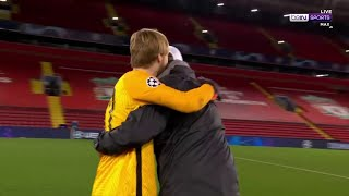 Klopp runs to Kelleher IMMEDIATELY after final whistle to give classic embrace