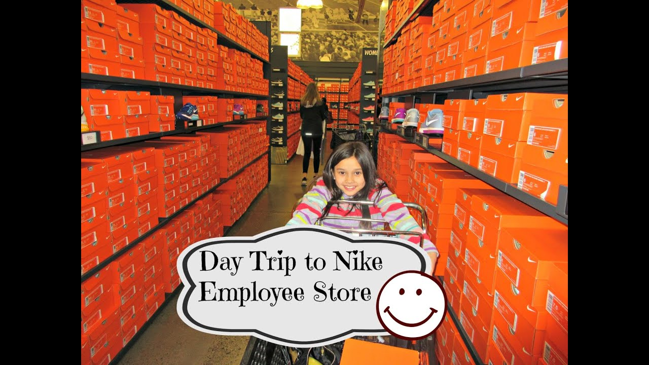 day trip to nike employee store