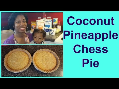 How To Make Coconut Pineapple Chess Pie