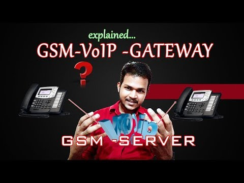 GSM VoIP Gateway explained in Hindi