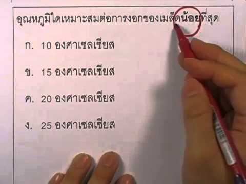 ข้อสอบO-NET ป.6 ปี2552 : วิทย์ ข้อ3
