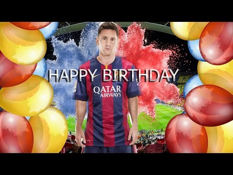 Lionel Mess● Happy Birthday●Skills 2014/15●HD