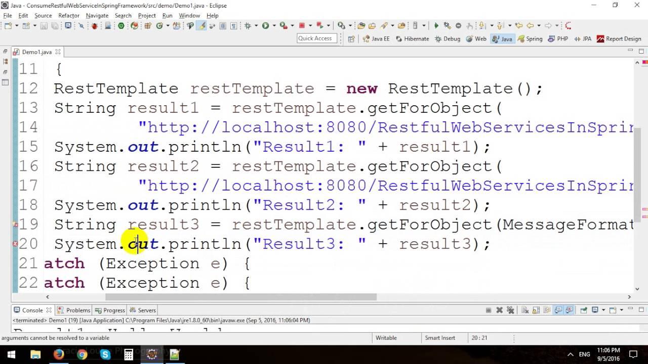 Consume Java Restful Web Services in Spring Framework