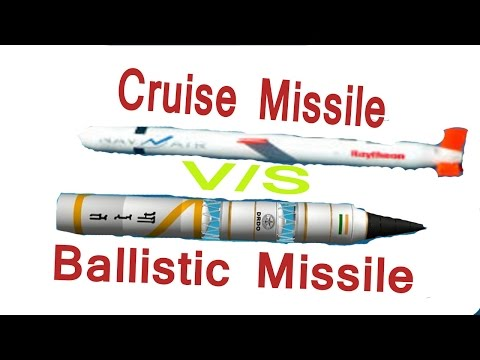 Difference between cruise and ballistic missile