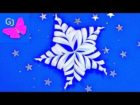 Ажурная снежинка из бумаги за 2 минуты