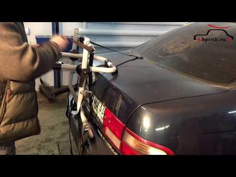 Велобагажники для автомобиля. Крепление для перевозки велосипеда на крышке багажника Bgznk Top.