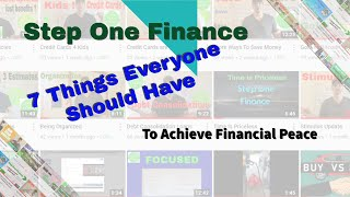7 Things Everyone Sh๐uld Have To Achieve Financial Peace