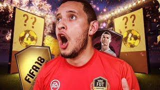 Omg! opening 4 sets of fut draft rewards!! fifa 18 ultimate team pack opening