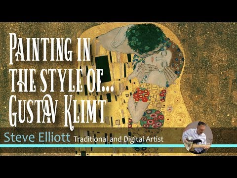 Digital Painting in the style of ... Gustav Klimt