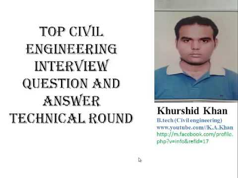 top  civil engineer interview question  answer   answer  question youtube