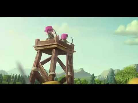 Vivo IPL theme song on Clash of Clan animated video