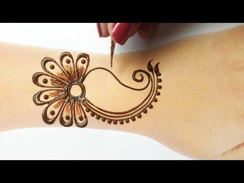 ये अरेबिक मेहँदी हिना ट्रिक इस सावन,राखी पे ज़रूर सीख ले-Easy Arabic Henna for Beginners!Rakhi Mehndi