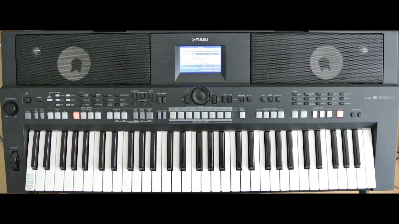 yamaha psr s650 a close up of the front and rear panel. Black Bedroom Furniture Sets. Home Design Ideas