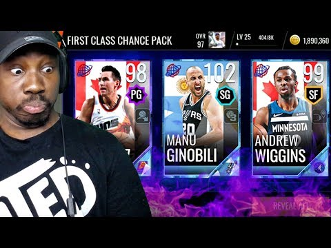 NEW 102 OVR INTERNATIONAL MASTER MANU GINOBILI! NBA Live Mobile 18 Gameplay Pack Opening Ep. 63