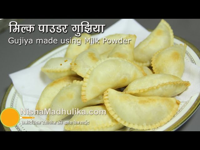 Gujia without Mawa - Milk Powder Gujiya Recipe