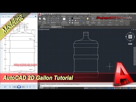 AutoCAD 2D Drawing Gallon Tutorial Exercise 19