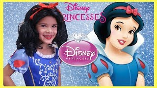 Sam Playing Princess Snow White Make up and Dress Up