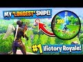 WORLD RECORD FORTNITE SNIPE! (Fortnite Battle Royale)