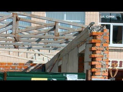 UA:СУМИ: Демонтувати тимчасову споруду біля першої гімназії вирішив виконком Сумської міськради