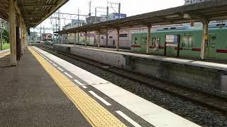 西鉄6000形普通福岡天神行き【小郡駅到着】